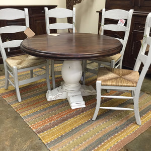 Drake 4' Round Dining Pedestal Table 64268WHD-TKB