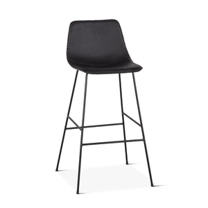Retro Counter Stool in Black