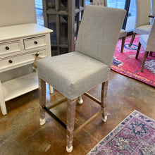 "Load image into Gallery viewer, Upholstered 24"" Counter Stool"