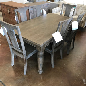 "Colonial Plantation 68"" Dining Table - Weathered Teak"