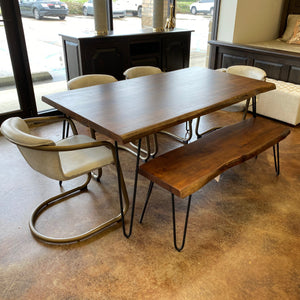 "68"" Vail Dining Table & Bench Set"
