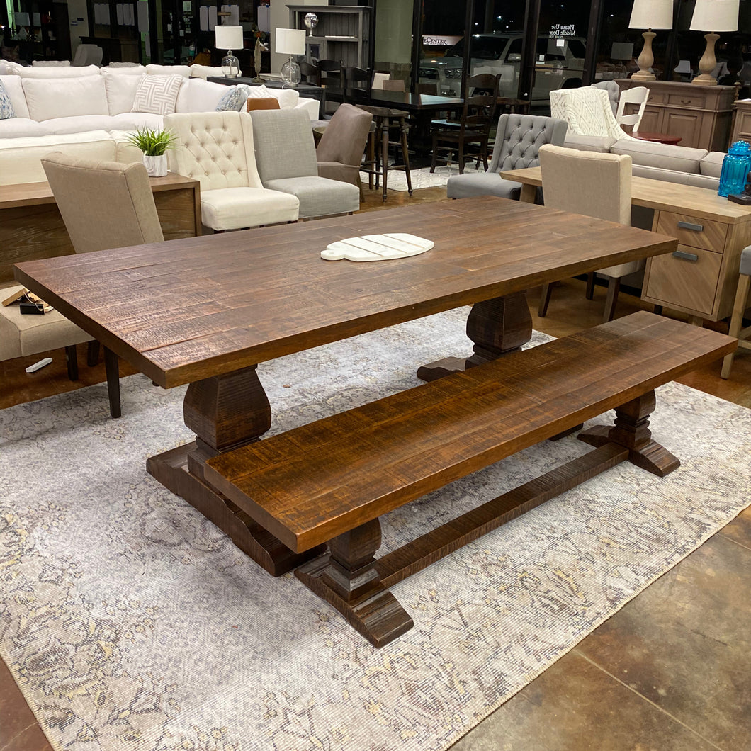 "86"" Trestle Table and Bench Set"