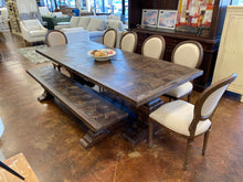 "Load image into Gallery viewer, 100"" Trestle Dining Table & Bench Set"