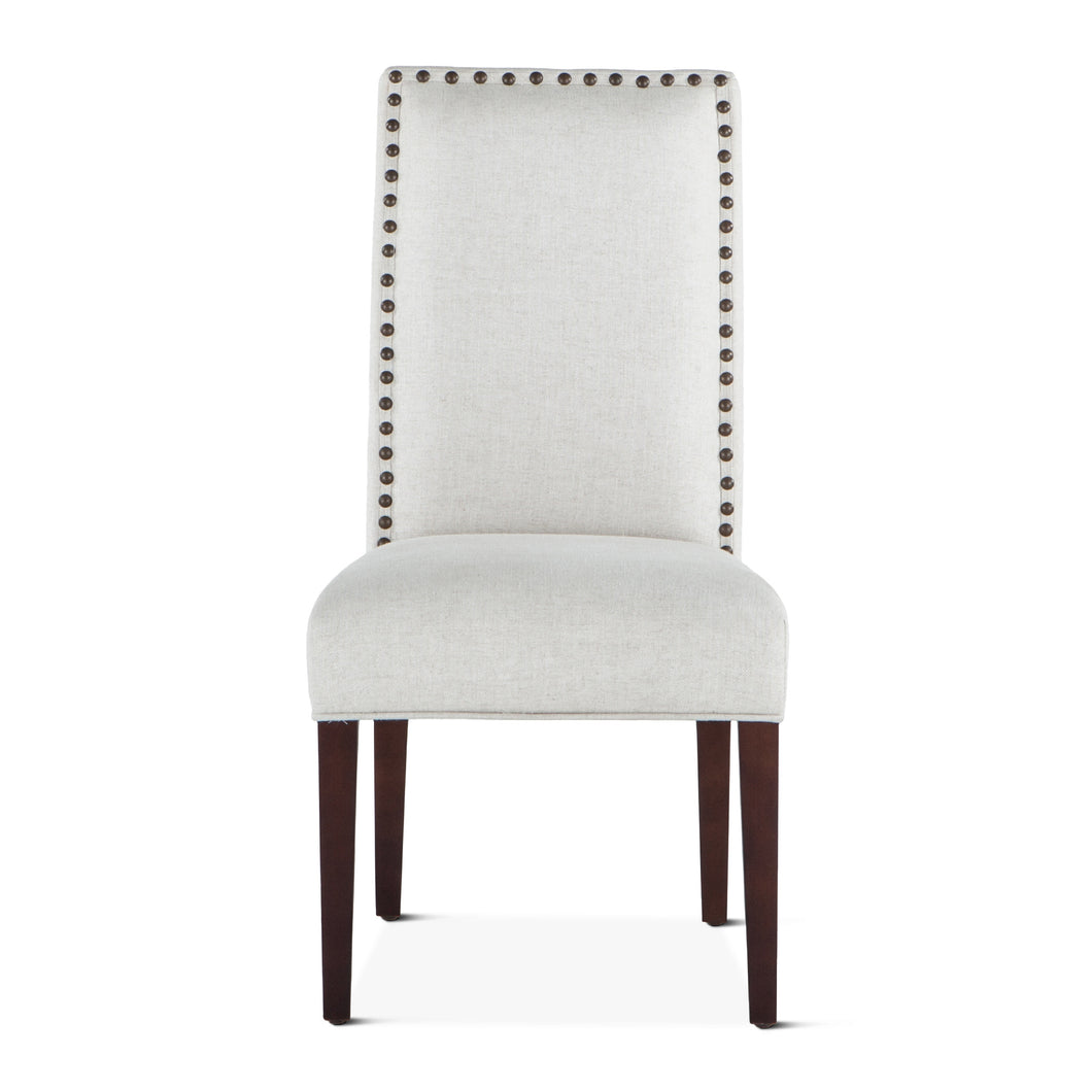 Jones Dining Chair Off-White with Dark Legs