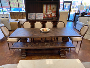 "100"" Trestle Dining Table & Bench Set"