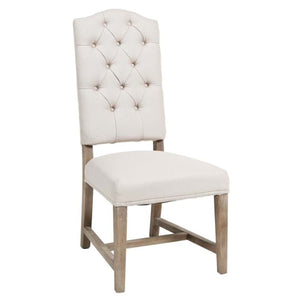 Ava Upholstered Dining Chair Beige