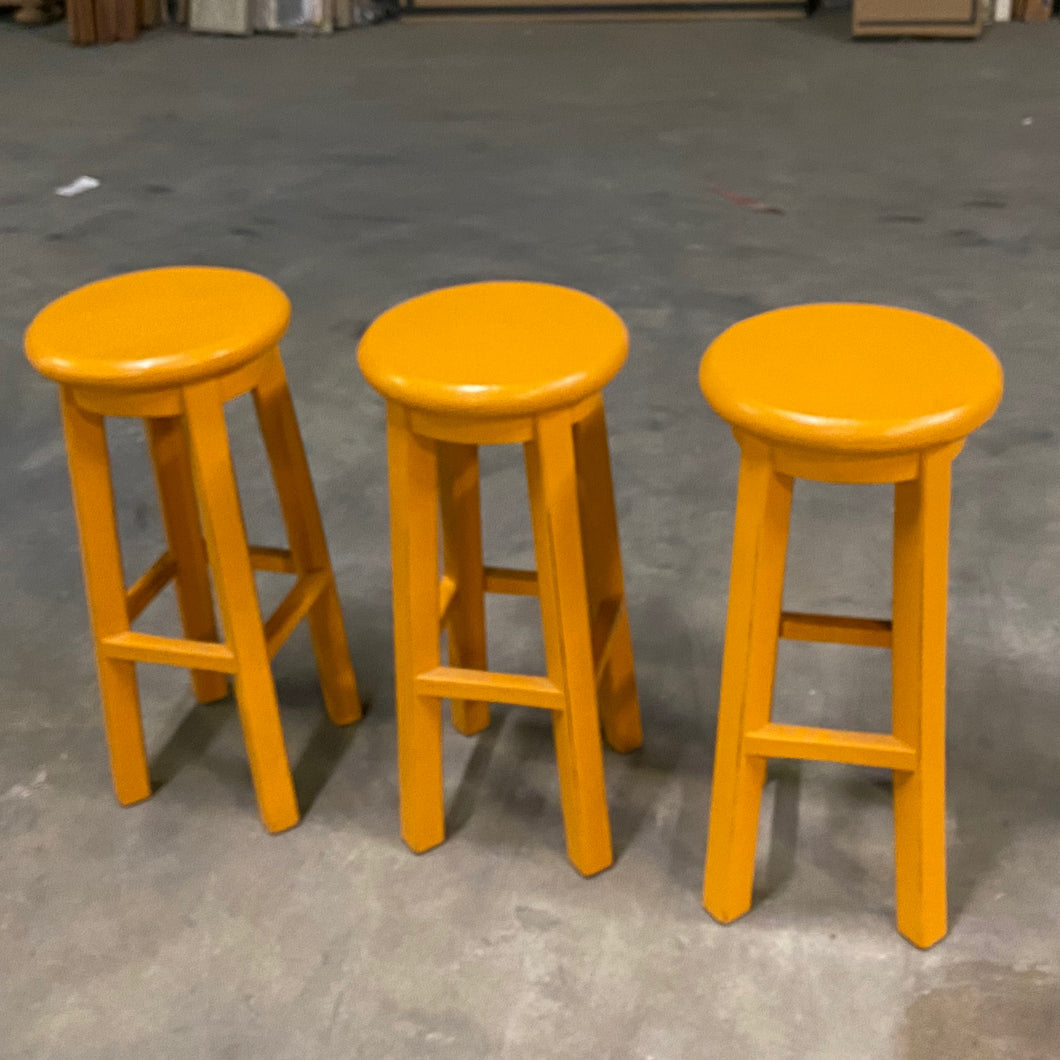 Orange Counter Stools (set of 3)