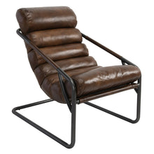 Load image into Gallery viewer, Leather Accent Chair
