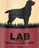bottle of lab wine
