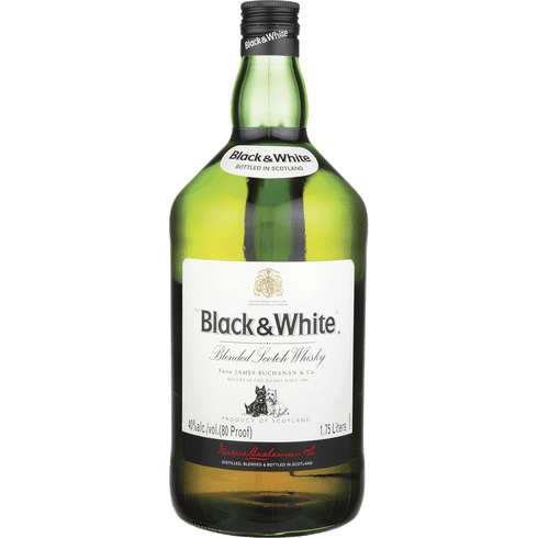 BLACK & WHITE SCOTCH 1.75L