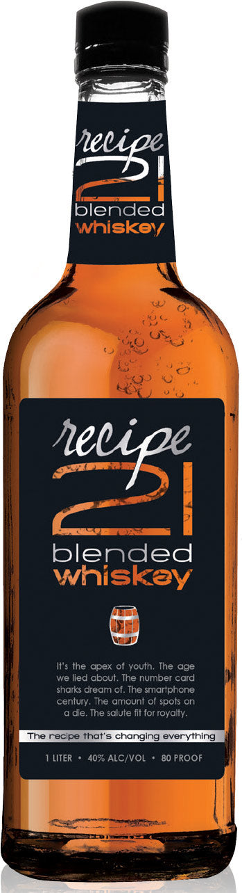 RECIPE 21 WHISKEY 375ML