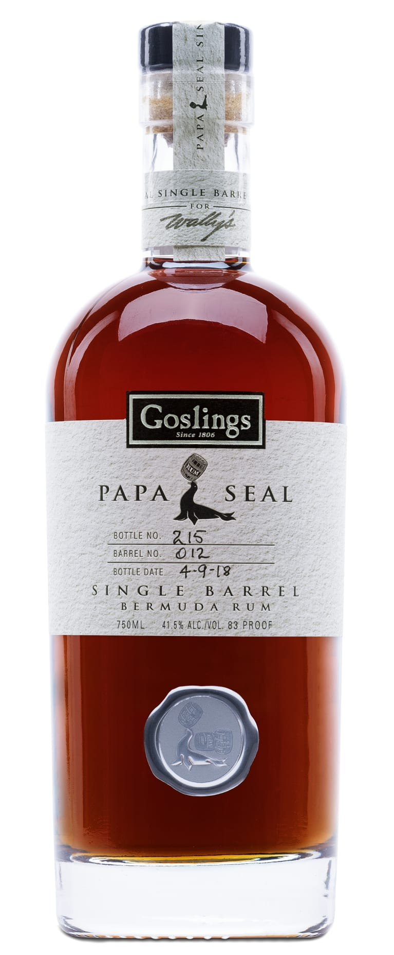 GOSLINGS PAPA SEAL RUM 750ML