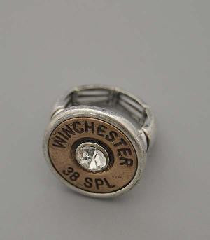 Gold Winchester 38 Special Bullet Ring