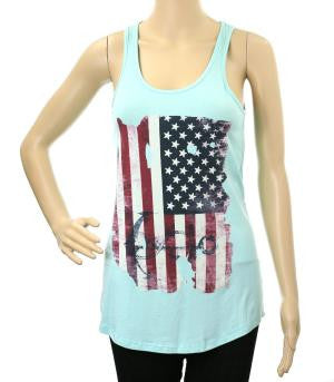 Mint Vintage American Flag Tank Top