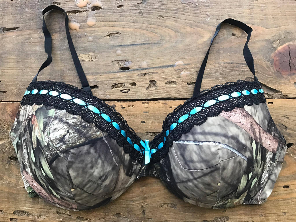 Mossy Oak Break Up Aqua Ribbon Bra