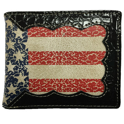 Mens American Flag Bifold Wallet