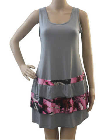 Grey and Camo Accented Dress