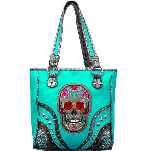 Conceal Carry Sugar Skull Handbag