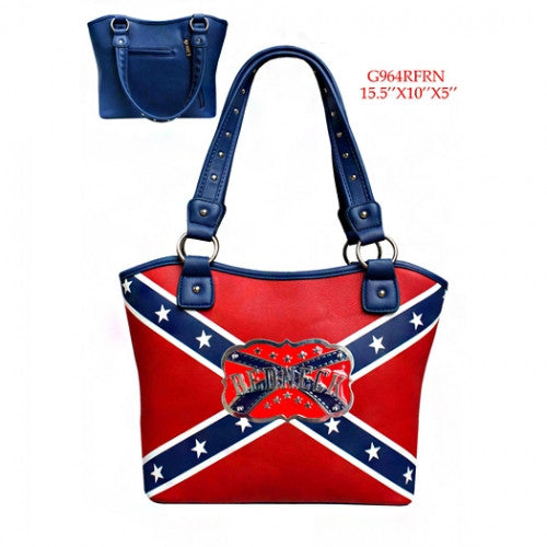 Rebel Flag Redneck Gun Concealment Purse