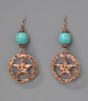 Turquoise and Star Earrings
