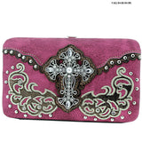 Western Cross Rhinestone Wallet