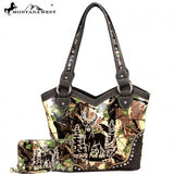 Montana West Trophy Buck Gun Concealment Purse and Wallet Set