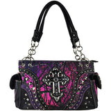 Purple Mossy Camo Cross Gun Concealment Purse