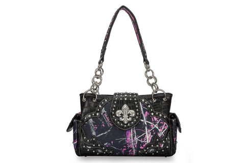 Muddy Girl Fleur De Lis Shoulder Bag
