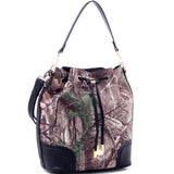 Realtree Girl® Camouflage Bucket Bag with Removable Straps