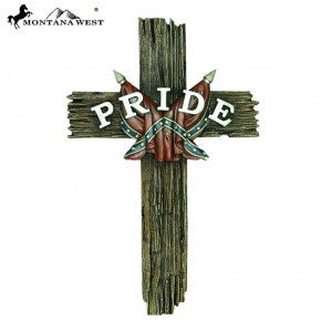 Rebel Flag Pride Wall Cross
