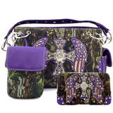 Camo Wing and Cross Purse and Wallet Set