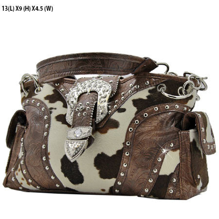 Cowhide Buckle Purse