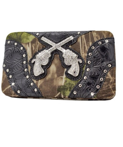 Camo Crossing Pistols Wallet