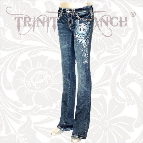 Trinity Ranch Designer Rhinestone Rodeo Western Ladies Fashion Jeans u2013 All Things Country