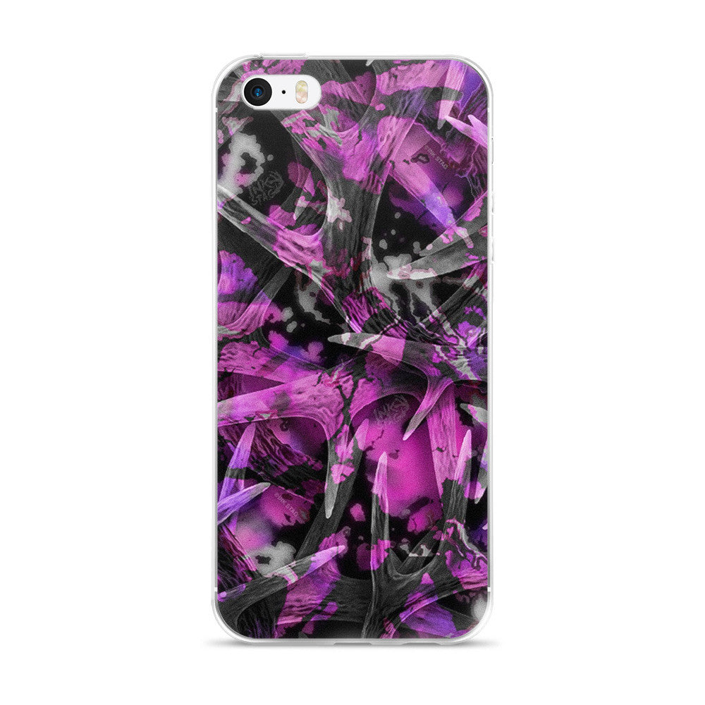 Purple Antler Camo iPhone case