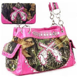 Neon Camo Six Shooter Purse and Wallet Set