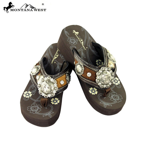 Montana West Six Shooter Accented Flip Flops