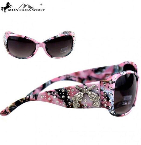 Montana West Camo Six Shooter Sunglasses