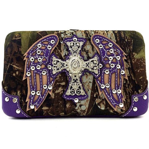 Camo Wing and Cross Wallet