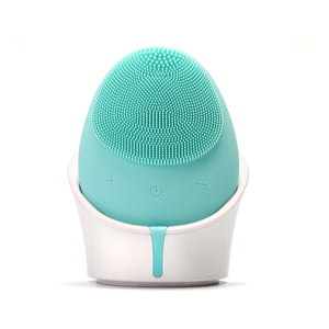 Hello Glow! MY DERMATICIAN Vibrating Sonic Care Facial Cleansing Brush Teal European Beauty by B