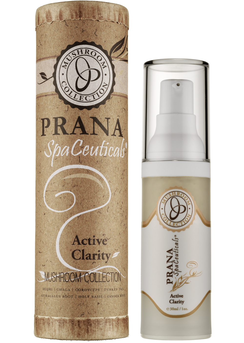 Prana SpaCeuticals Mushroom Collection Active Clarity 1oz European Beauty by B