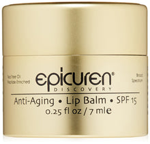Load image into Gallery viewer, Epicuren Discovery Anti-Aging Lip Balm SPF 15, 0.25 Fl Oz