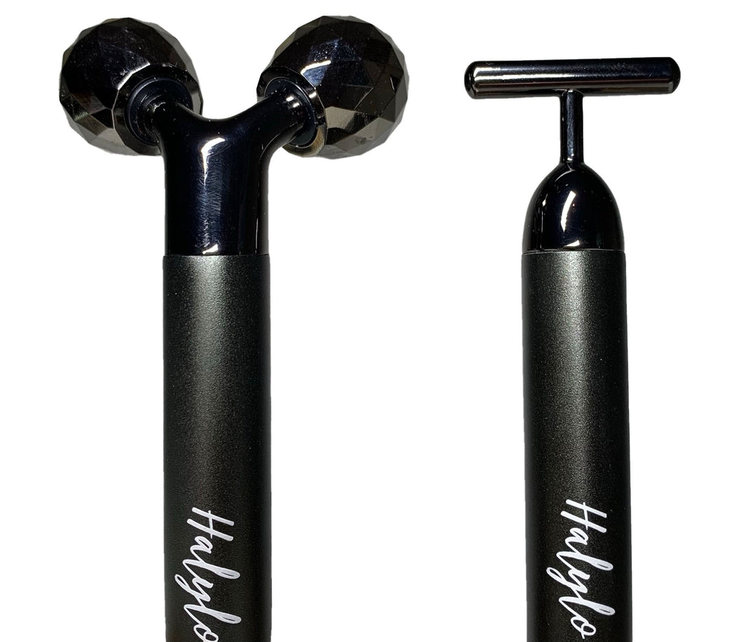 Halylo Face Roller Massage Tool Facial, Eyes, Neck, Body Massager Twin Pack