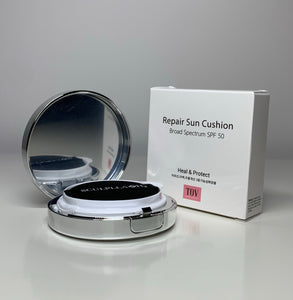 SCULPLLA H2 Repair Sun Cushion SPF 50 with Promoter Repair Eye Cream