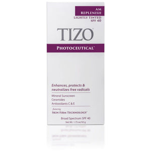 TIZO AM REPLENISH lightly tinted silky smooth finish spf 40