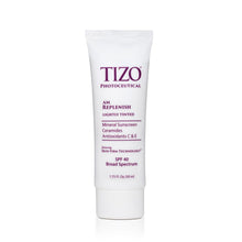 Load image into Gallery viewer, TIZO AM REPLENISH lightly tinted silky smooth finish spf 40