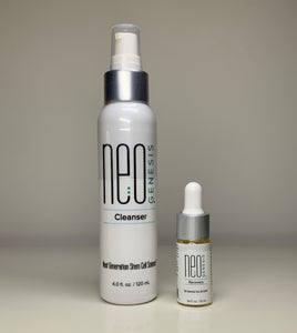 NeoGenesis Cleanser 120ml with Recovery 10ml and CAVIPLLA +O2 Premium Caviar Multi Serum Caviar