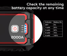Load image into Gallery viewer, UTRAI 22000mAh Portable Car Jump Starter and Power Bank