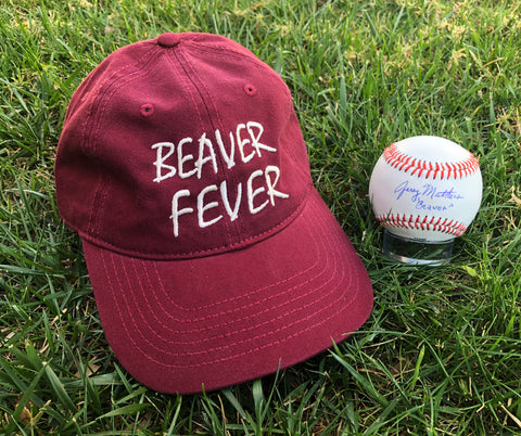 Beaver Fever Hat and Ball package (Burgundy)