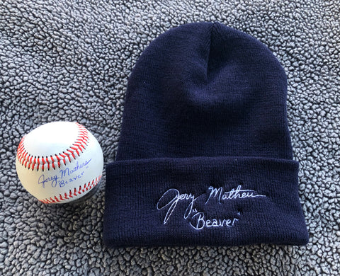 Knit Cap and Ball package (NAVY)